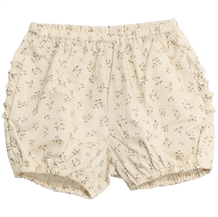 Wheat Nappy pants Ruffles - Eggshell flowers
