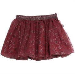 Wheat Tulle Skirt X-mas - Minnie burgundy