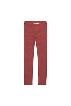 Soft Gallery Paula Leggings - Barn Red, AOP Trio Dotties