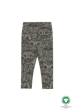 Soft Gallery Paula Baby Leggings, AOP Owl LIMITED - Vetiver