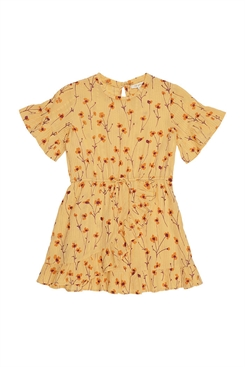 Soft Gallery Dory Dress, Golden Apricot, AOP Buttercup