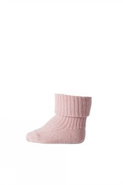 MP Ankle Wool Rib Turn Down (Wood Rose)