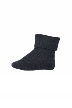MP Ankle Wool Rib Turn Down (Dark Grey)