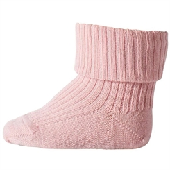 MP Ankle Wool Rib Turn Down - Old rose