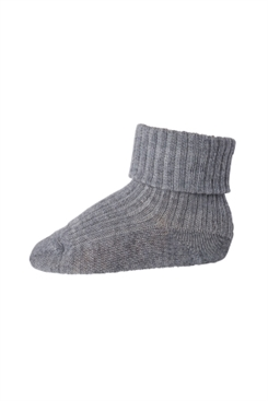 MP Ankle Wool Rib Turn Down (Grey Marl.)