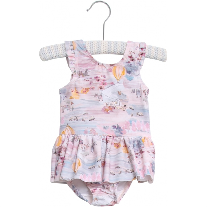 Wheat bathing suit Didde - pale rose