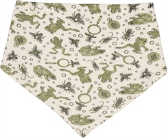 Wheat Eden bib - Eggshell frogs
