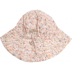 Wheat baby girl sun cap - Eggshell