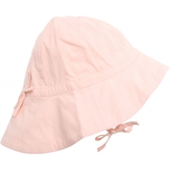Wheat baby girl sun cap - powder