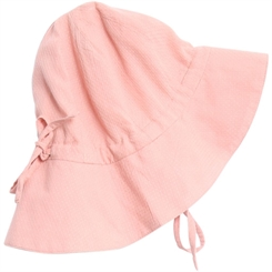 Wheat baby girl sun cap - rose tan