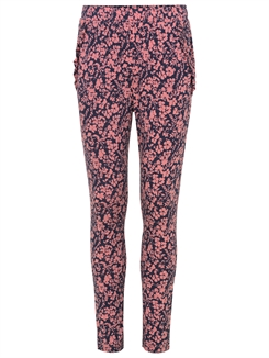 Rosemunde Trousers - Terracotta small floral print