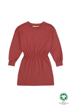 Soft Gallery Emilia  Dress - Barn Red, AOP Trio Dotties