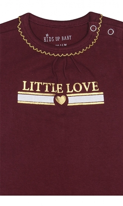 "Kids-up body  - red/gold ""little love"""