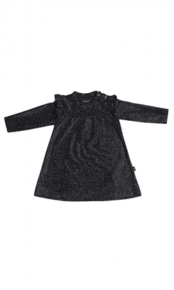 Kids-up kjole - sort glitter