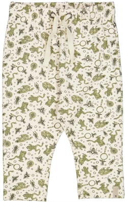 Wheat Leggings Nicklas - Eggshell frogs
