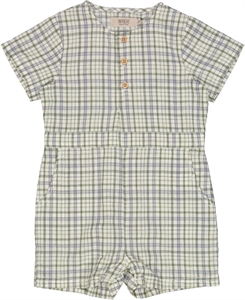 Wheat playsuit Berg -  Eggshell check
