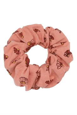 Soft Gallery Scrunchies, Tawny Orange, AOP Camomile  S