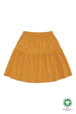 Soft Gallery Fennel Skirt, Sunflower, AOP clover