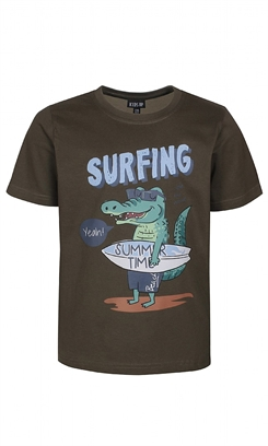 "Kids-up T-shirt - Army way - krokodille ""Surfing"""