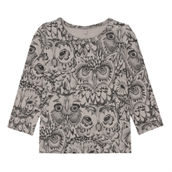 Soft Gallery Baby Bella T-shirt, AOP Owl - Drizzle