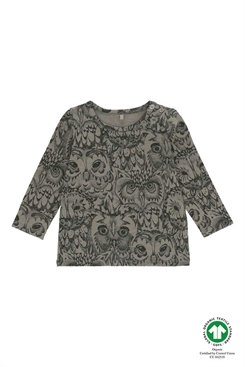 Soft Gallery Bella T-shirt, LIMITED AOP Owl - Vetiver