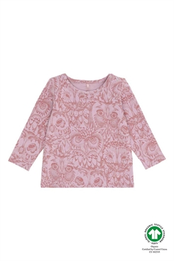 Soft Gallery Bella T-shirt, LIMITED AOP Owl - Lavender