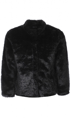 Kids-up Fake Fur jacket - Black
