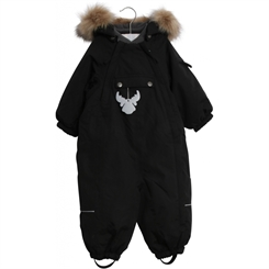 Wheat snowsuit Nickie - Black