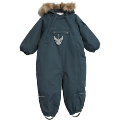 Wheat snowsuit Nickie - Blue petroleum