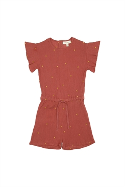 Soft Gallery Fairy Jumpsuit, Cinnabar, AOP Dotty Emb