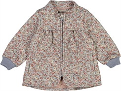 Wheat Thermo Jacket Thilde - Dusty dove flowers