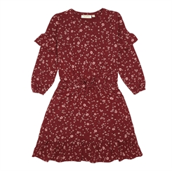 Soft Gallery Gail Dress - JOxblood Red, AOP Flowery
