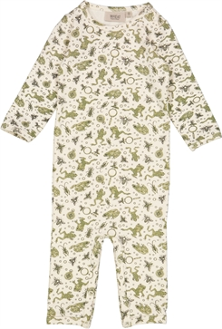 Wheat Jumpsuit Theis - Eggshell frogs