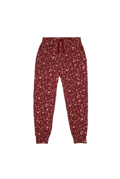 Soft Gallery Charline Pants - Oxblood Red, AOP Flowery