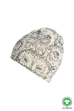 Soft Gallery Owl beanie - cream