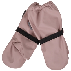 Mikk-line PU rain Mittens w/fleece - Adobe Rose