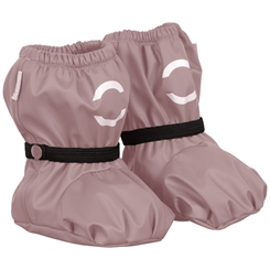 Mikk-line PU rain Footies w/fleece - Adobe rose