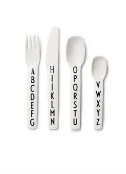 Design Letters cutlery set (white)