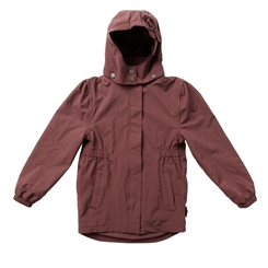By Lindgren - Gudrun rain jacket m fleece - Dark heather