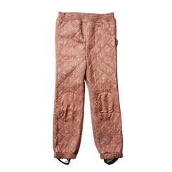 By Lindgren - Sigrid thermo pants - Nutmeg w/flowers