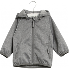 Wheat Softshell jacket Carlo - Melange grey