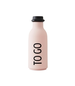 Design Letters to go water bottle (pink)