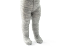 Smallstuff merino uld tights - grey/silver