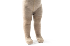 Smallstuff merino uld tights - nature/gold