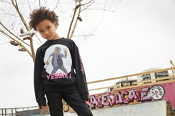 "Ternet Ninja - Anders Matthesen - Kids-Up Sweatshirt ""Yes Sir"" (sort)"