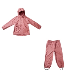 By Lindgren Gunhild PU Set w/Rain Pants - Raspberry